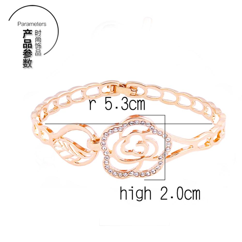 Fashion Trendy Open Flower Cuff Bracelet Bangles for Women Simple Bracelet Femme Jewelry Birthday Gift W142