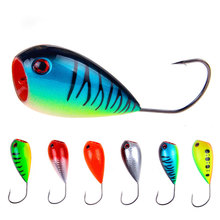 Купить с кэшбэком Fishing bait 13g/8cm wobblers bait fishing lures trout sea fishing pike lure squid popper Plastic artificial hard bait