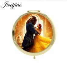 JWEIJIAO Красавица и Чудовище компактное зеркало прибытие мини круглое карманное зеркало новые женские инструменты для стиля зеркала CT11