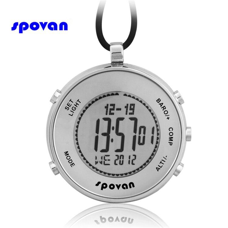 Montre homme SPOVAN montre de poche de luxe de marque supérieure baromètre altimètre boussole moniteur 28 heure mondiale horloge Sport numérique hommes saat