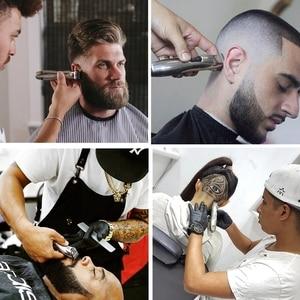Image 2 - barber professional hair trimmer zero beard trimer for men finishing electric hair cutting machine edge lining haircut