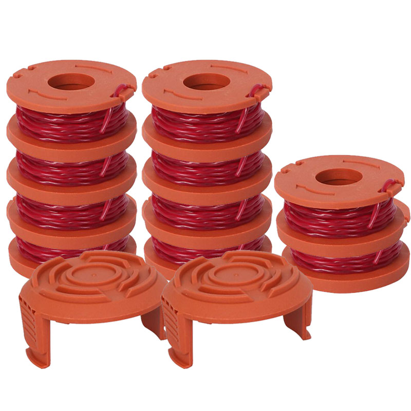 12Pcs Replacement Spool String Trimmer Line For WORX 10pcs Spool And 2pc Cap New12Pcs Replacement Spool String Trimmer Line For WORX 10pcs Spool And 2pc Cap New