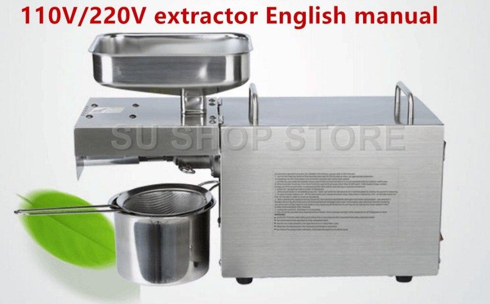 110 V/220 V chaleur et froid maison presse à huile machine pinenut, cacao soja haricot huile d'olive presse machine haut taux d'extraction d'huile