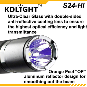 Image 4 - ใหม่ KDLITKER S24 HI CREE XP L HI V3 สีขาว 6500K / Neutral White 4500K/WARM White 3000K 1100 Lumens 3 โหมดไฟฉาย LED