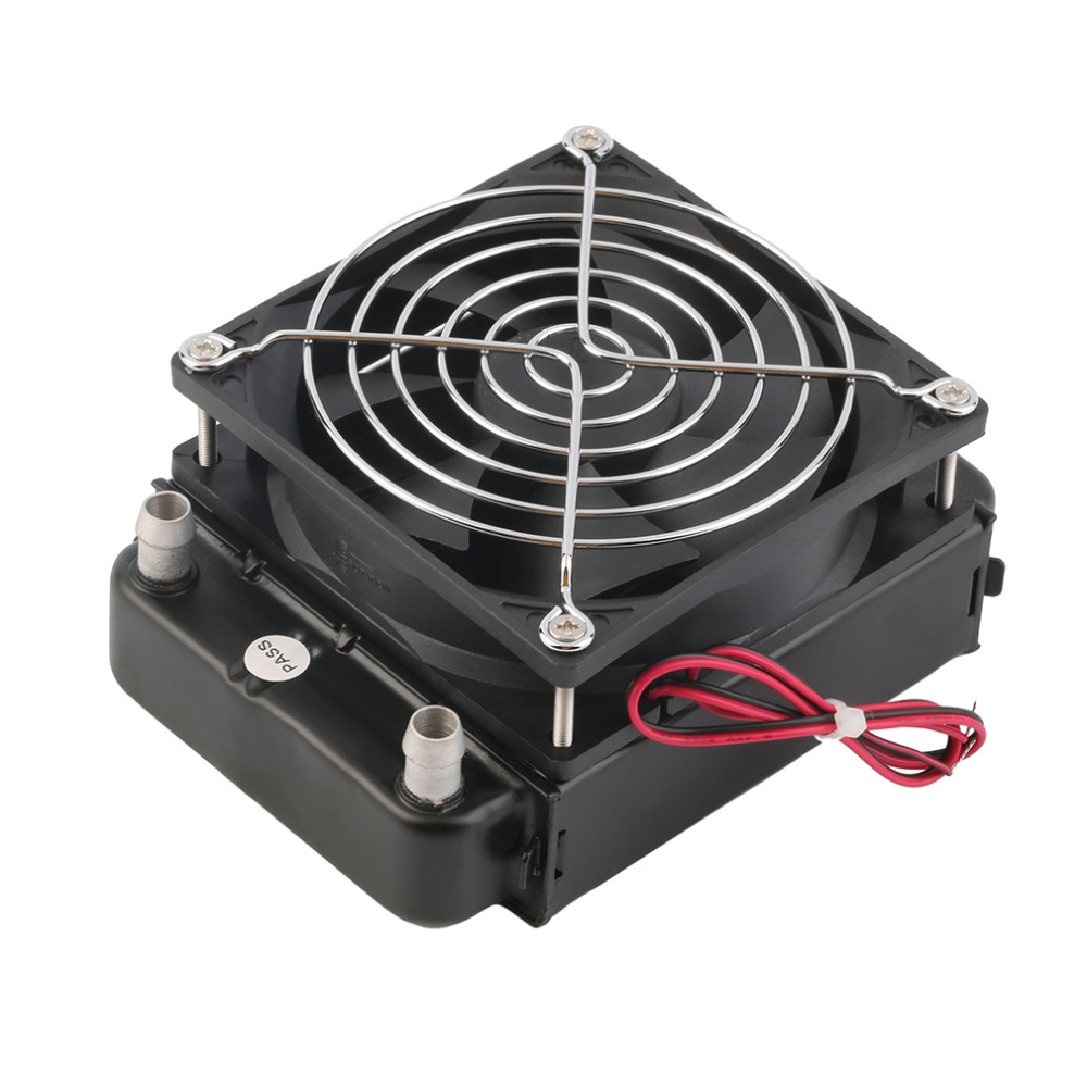2017 Newest 90mm Aluminum Water Cooling CPU Cooler Row Heat Exchanger Radiator Fan for water-cooled computer CPU