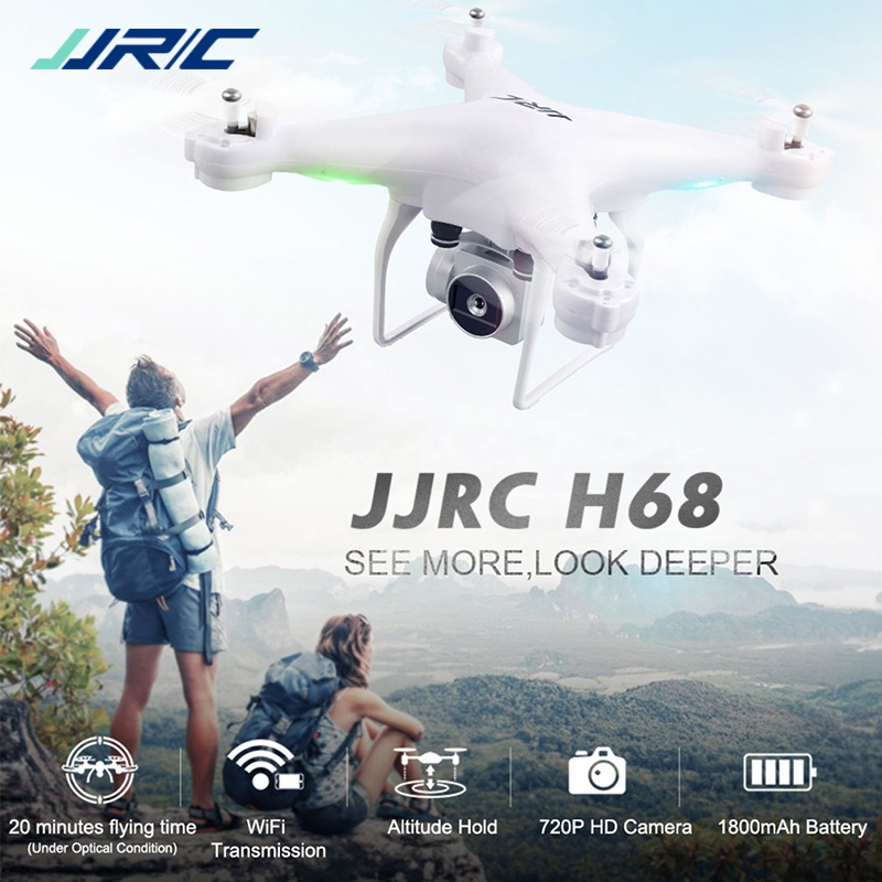 JJRC H68 Indicateur WiFi FPV 2MP 720 p HD Caméra 20 minutes Temps de Vol RC Drone Quadcopter RTF Mode 2 VS Bayangtoys X21 X16