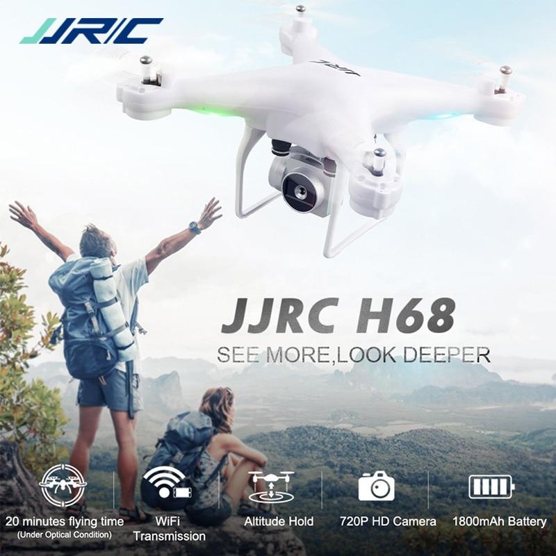 JJRC H68 Indicateur WiFi FPV 2MP 720 p HD Caméra 20 minutes Temps de Vol RC Drone Quadcopter RTF Mode 2 VS Bayangtoys X21 X16