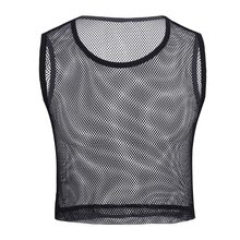 YiZYiF Men See-through Mesh Fitness Tshirt Fishnet Muscle Tops Sleeveless T-Shirt Vest S-L(China)
