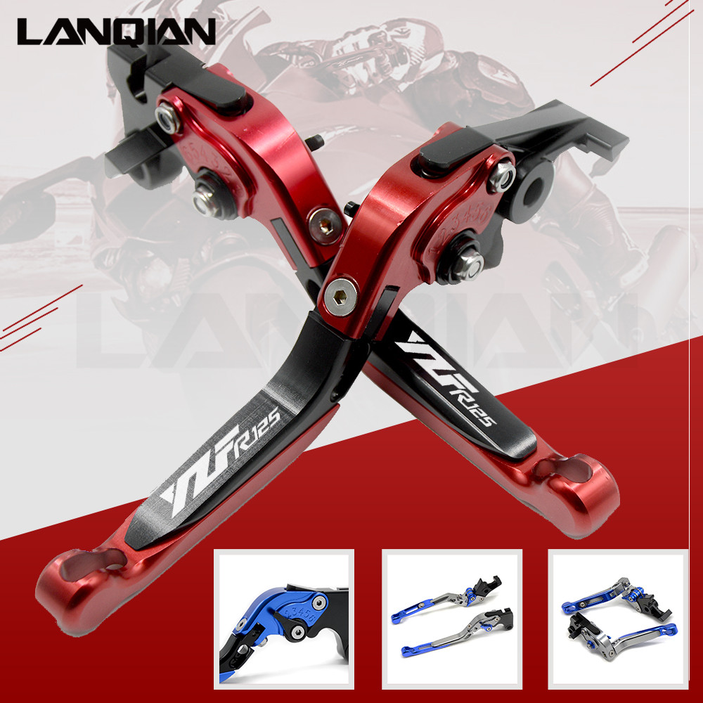 12 Colors For YAMAHA YZF R125 2005-2014 CNC Motorcycle Accessories Adjustable Folding Extendable Brake Clutch Lever YZF-R125