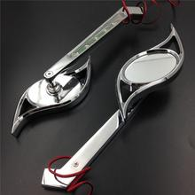 For Motorcycle Honda CBR600RR CHROME Motorcycle LED Turn signal Hurricane style mirrors