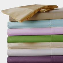 100% Egyptian cotton 600 TC Fitted Flat style bedding sheets 4 pcs set King Queen size brown purple blue white color customize