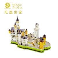 Interesting Children S Paper Toys Compatible With Legoes Paper 3D Composite Building Swan Castle Model Children