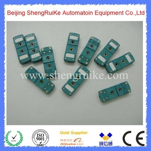 Image 1 - Mini Thermocouple Connector K  OMEGA type Green Color Flat pin Male and Female