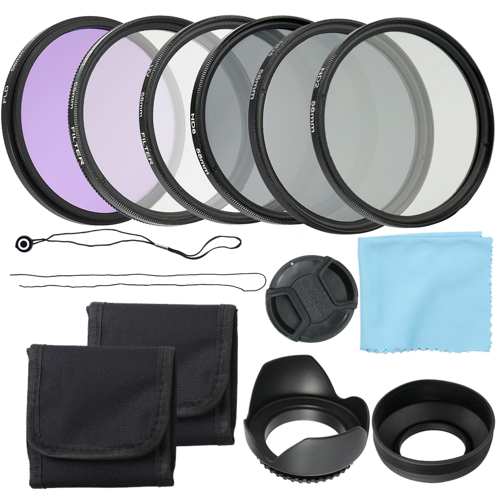 Andoer 58mm 52mm Camera UV CPL FLD Lens Filters Kit And Altura Photo ND Neutral Density Filter Set Photography Accessories