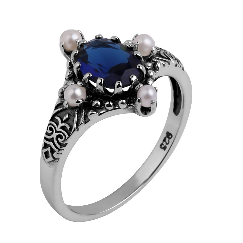 Szjinao,, винтажный стиль, ювелирная серия, модное женское кольцо с натуральным жемчугом, 925 пробы, серебряное кольцо