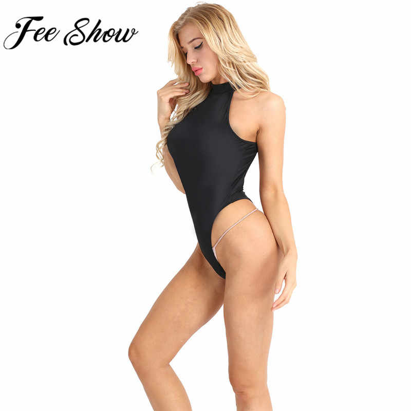 Feeshow 5 Colors Women Transparent Bodysuit Backless Sexy Body Jumpsuit  Rompers Women Thong Catsuit Leotard Beachwear 53d7e99c9