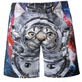 2016 New Fit for Men Beach Shorts Boardshort Man Casual Pants Male Shorts Boy  Fit Casual 3d Space Cat Swag Summer Hot