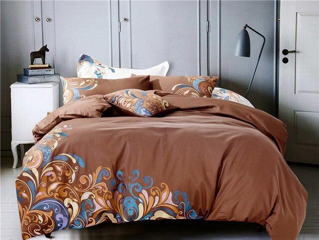 Luxe katoen satijn borduurwerk beddengoed set dekbedovertrek