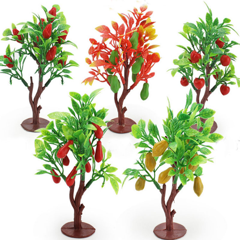 20pcs 9cm Pink And Green Street Tree Model Sand Table Model Of The Wire Tree Ideal Gift For All Occasions Model Building