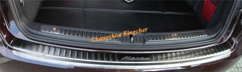 Два Цвета! черный и Siliver Нержавеющей Стали задняя дверь бампер гвардии protector для Porsche Макан S Turbo