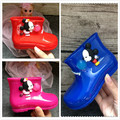Cheiro doce Botas de chuva meninas todder bebê mickey Bow mini adorável meninas moda botas antiderrapante impermeável shoes Sapato melissa