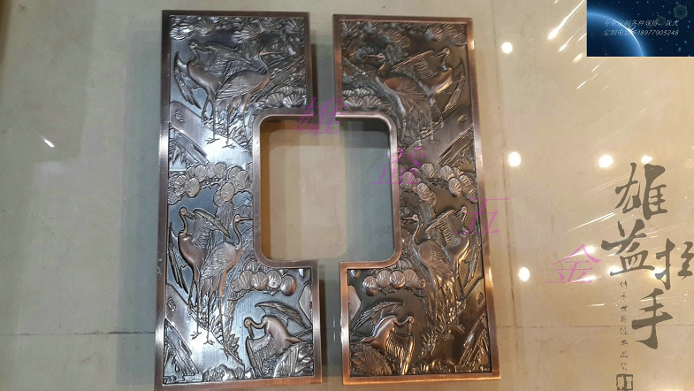 Antique bronze sculpture luxury hotel clubs Handle Chinese glass door wooden door handles villa Handle solid wood door glass door handle stainless steel bronze sculpture of chinese antique european style luxury door handles