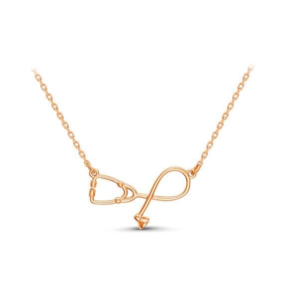 rikamaee: Best Stethoscope necklace, silver necklace, Gift