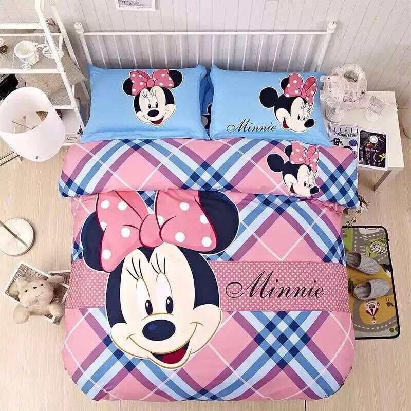 Aliexpress.com : Buy 3D minnie mouse twin full comforter set ...