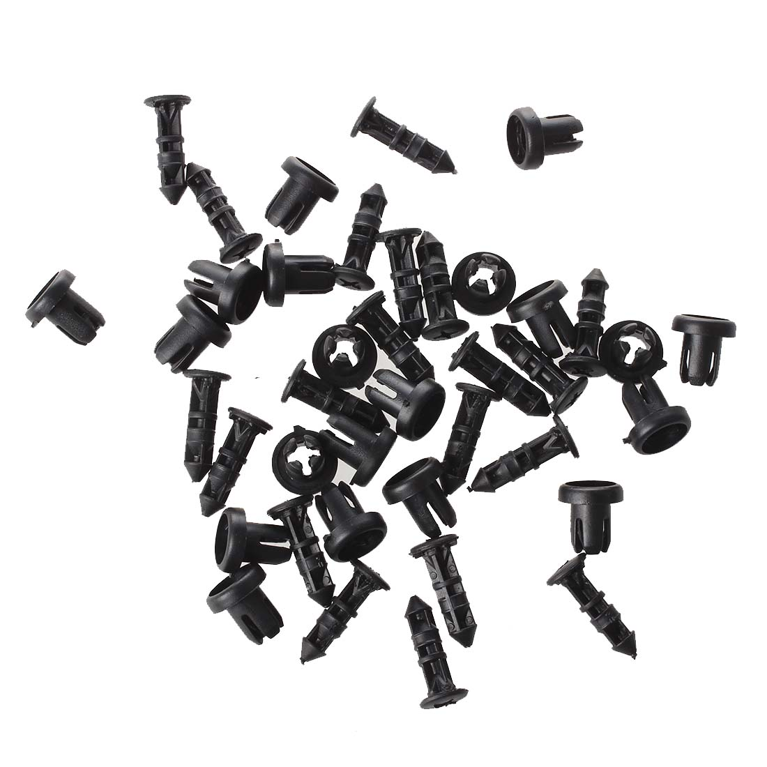 dsha new hot 20 pcs 9mm hole push in expanding screw panel clips Automotive Push Fasteners aeproduct getsubject
