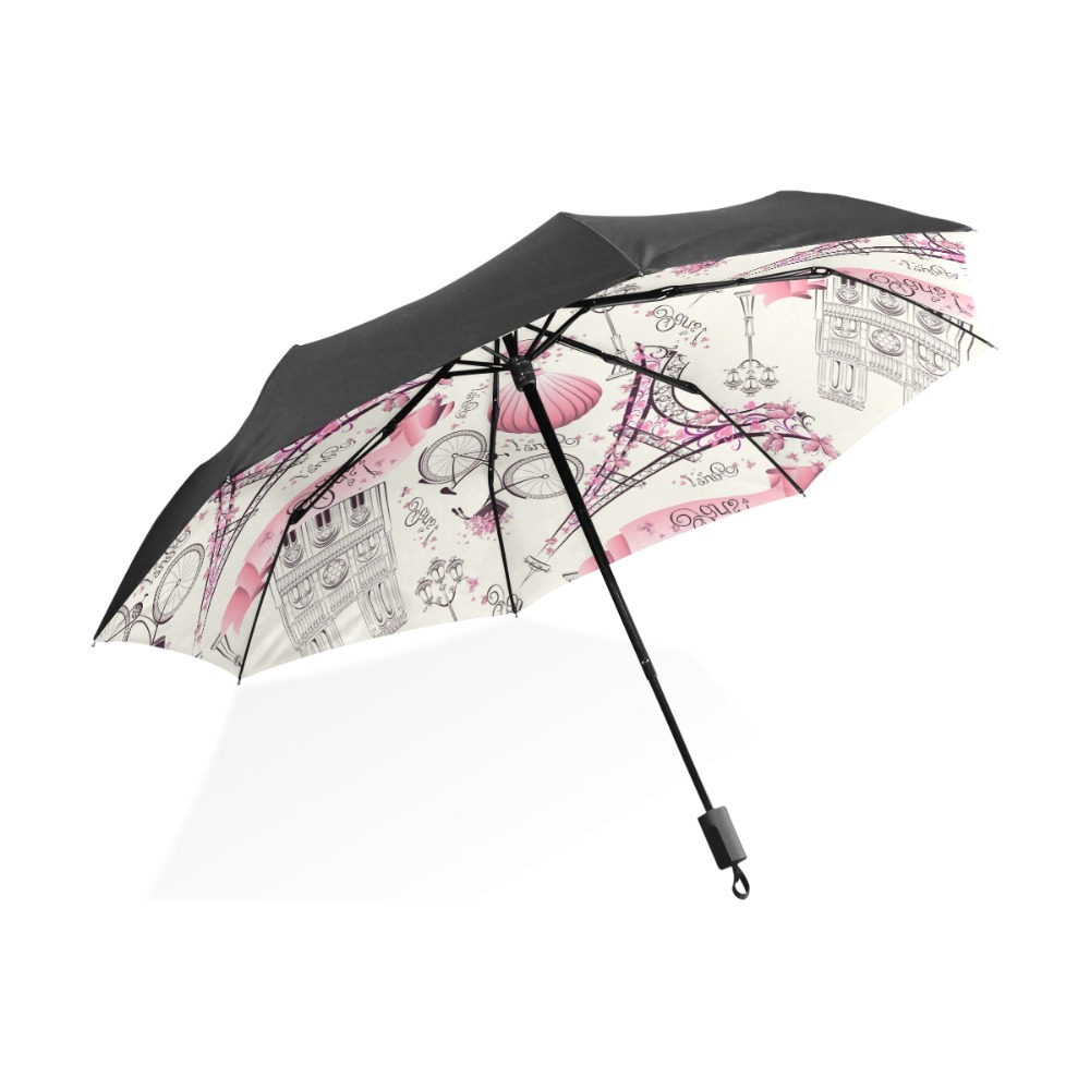 Three Folding Umbrella Rain Women Parasol Uv Umbrella Men