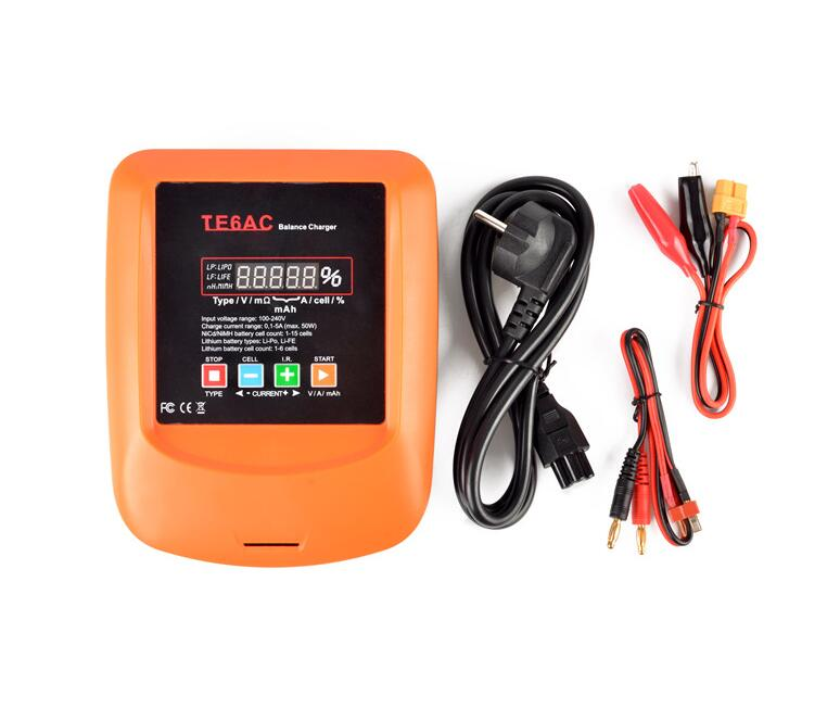 ФОТО free shipping te6ac lipo life battery balance charger built-in adapter lcd voltage indicator charger for li-po li-fe battery