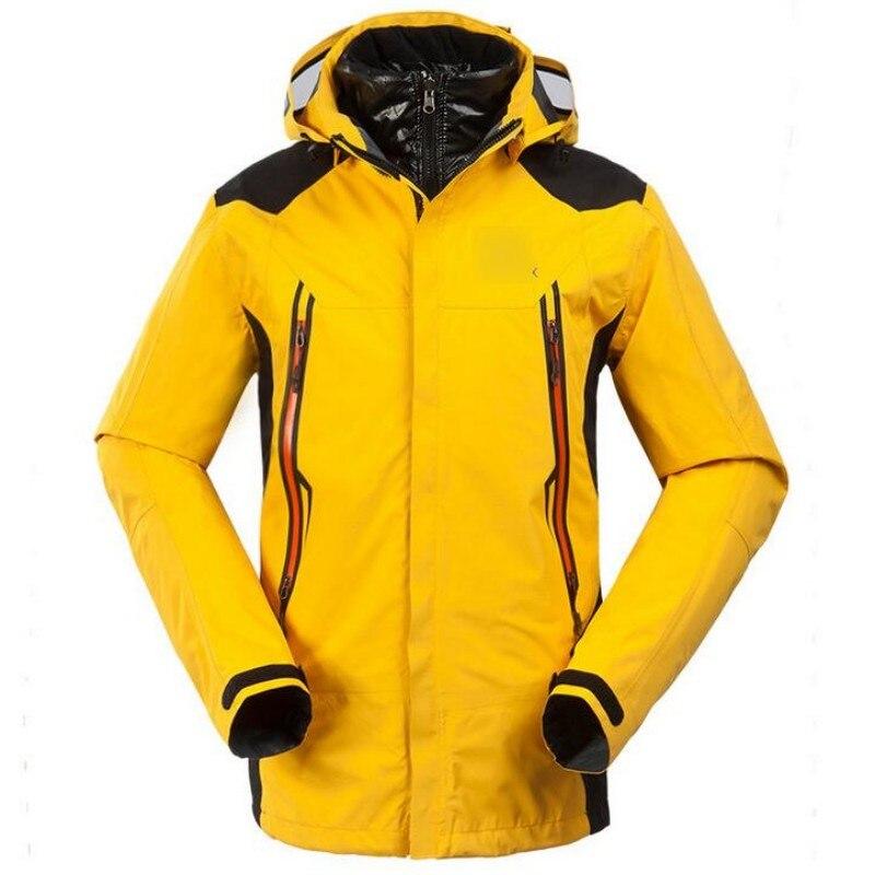 Hommes veste de Ski hiver Snowboard costume Hombre extérieur chaud imperméable respirant vêtements à capuche intérieur doudoune coupe-vent