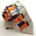 5cm Unique Slender Tie Printed Polyester Necktie Piano Keyboard with Colorful Music Notes