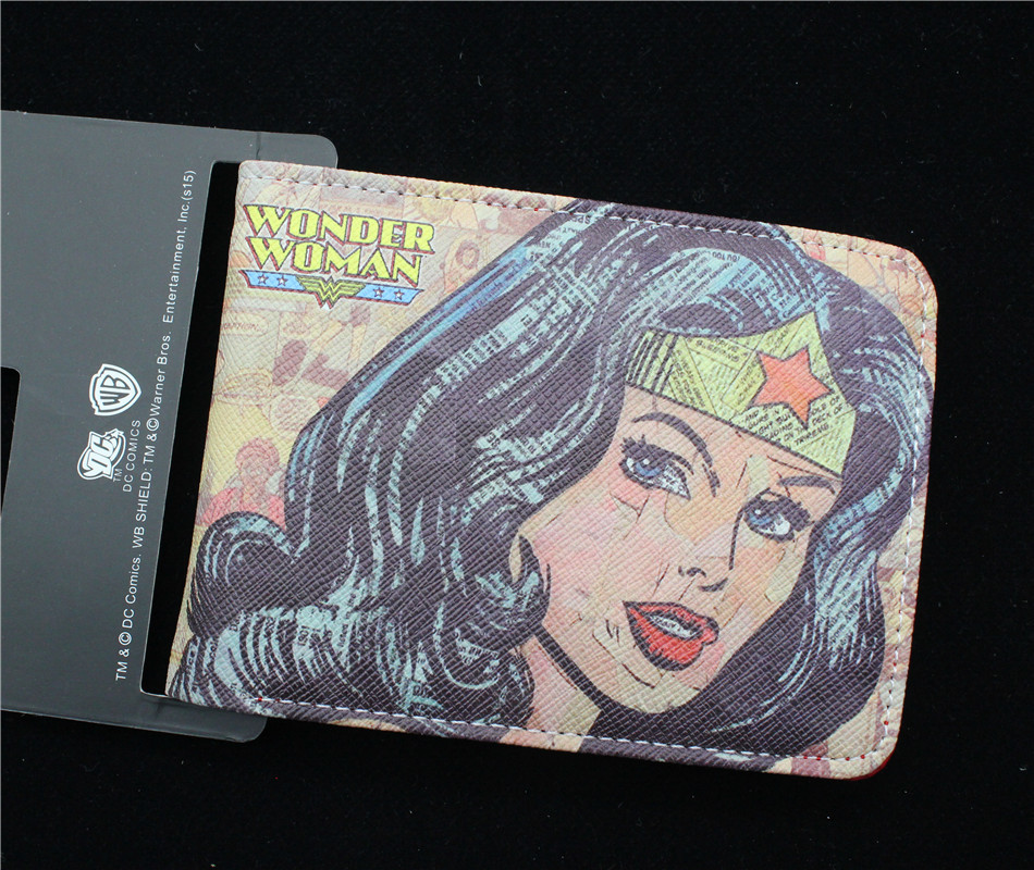 Wonder Woman кошелек Marvel comics серии бумажник женщин и мужчин Biold Кожа pu кошелек