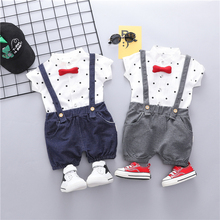 2019 Summer Toddler Infant Clothing Suits Baby Girls Boys Clothes Sets  Lapel Bear T Shirt Shorts Kids Children Casual Suit bear leader kids clothes 2018 fashion sleeveless summer style baby girls shirt shorts belt 3pcs suit children clothing sets