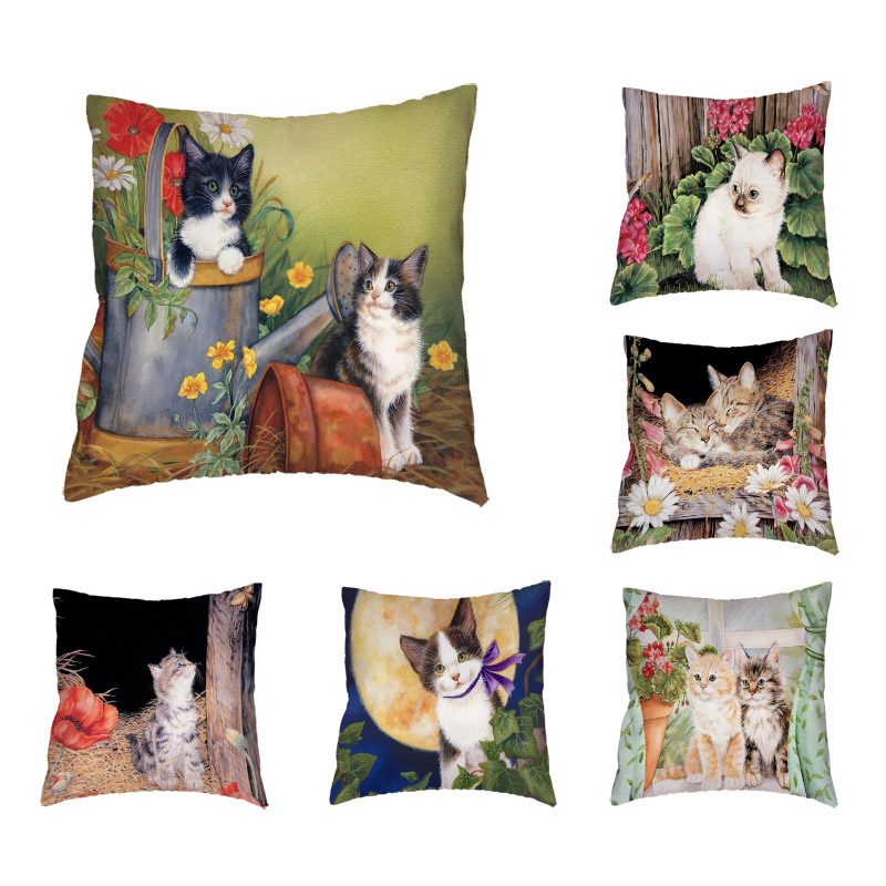 Сказка кот Чехлы шар бабочка Para Almofada Кемпинг кролик волновой точки лук Главная Кровать автомобиль офис диван украшения