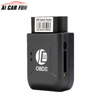 Mini OBD2 GPS Tracker GPRS Real Time Tracker Car Tracking System With Geofence Protect Vibration Phone