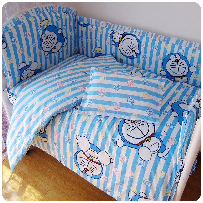 Discount! 9pcs Cartoon Baby Cot Bedding Sets,Baby Bumper Bedding Set of Baby Crib and Cot ,Free Shipping 120*60/120*70cm discount 9pcs full set baby crib bedding set cot bedding sets cot bedding set 4bumper sheet pillow duvet 120 60 120 70cm