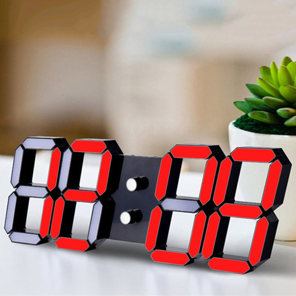 Clocks Kind-Hearted Led Digital Electronic Alarm Clock Digital Table Desk Coulocks Floor Bathroom Office Decoration Desk Chinese Home Clock Office A Wide Selection Of Colours And Designs Home Decor