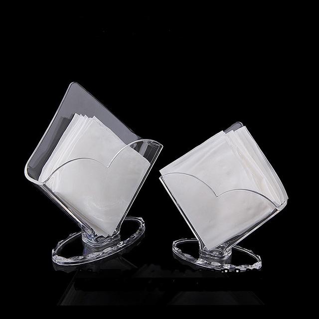 Facial Tissue Box Holder Acrilico Trasparente Organizzatore Di Stoccaggio per Cu