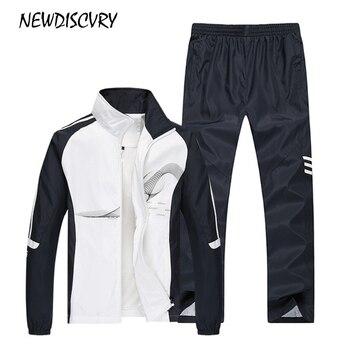 Nuevodiscvry de dos piezas chándal hombres chaqueta + pantalón de los  hombres sudadera 2018 otoño ropa deportiva para hombre traje de Sudadera  Hombre Ropa 015f1ac54f76
