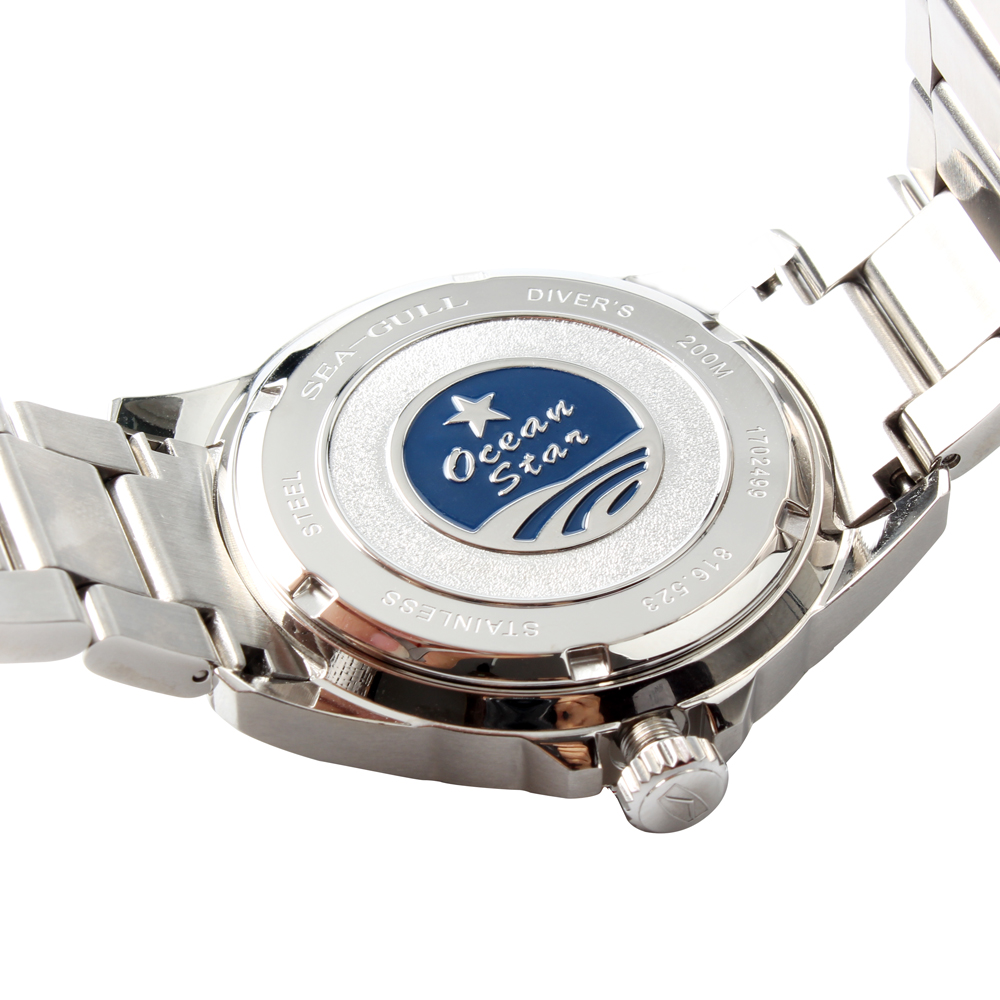 Image 5 - Seagull Ocean Star Self wind Automatic Mechanical 20Bar Mens Diving Swimming Sport Watch Blue Dial 816.523dialdial watch  -