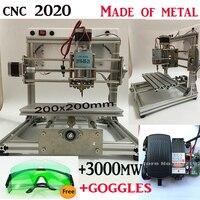 Cnc 2020 3000mw Laser Large Area Cnc Engraving Machine Pcb Milling Machine Wood Carving Machine Diy