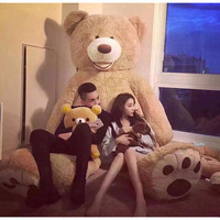 Big 200cm American Giant Bear Teddy Bear Doll Stuffed And Plush Animals Toys For Girlfriend Toys Birthday Gift Valentine's Day