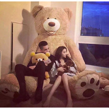 Big Size 200cm American Giant Bear Teddy Coat Good Quality Factary Price Soft Toys For Birthday Gift And Valentines Day