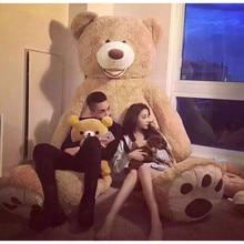 Big 200cm American Giant Bear Teddy Bear Doll Stuffed And Plush Animals Toys For Girlfriend Toys Birthday Gift Valentine's Day