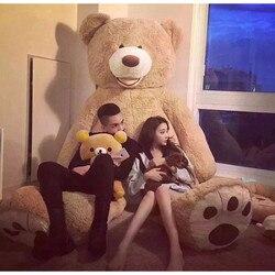 Grote 200cm Amerikaanse Giant Teddybeer Pop Gevulde En Pluche Dieren Speelgoed Voor Vriendin Speelgoed Verjaardagscadeau Valentijn dag