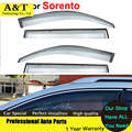 car styling Window Visors For Sorento 2009 2010 2011 2012 2013 2014 Sun Rain Shield Covers Car Stylingg Awnings Shelter