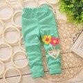 Niños libres del envío de ideas pequeños pantalones polainas de las muchachas de los estantes abiertos para archivos abiertos pantalones