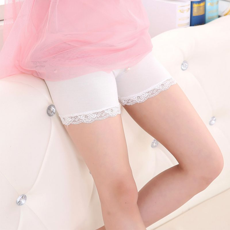 Children Short Pants Baby Girls Casual Shorts Safety Stretch Shorts Kids Leggings with Lace Pattern